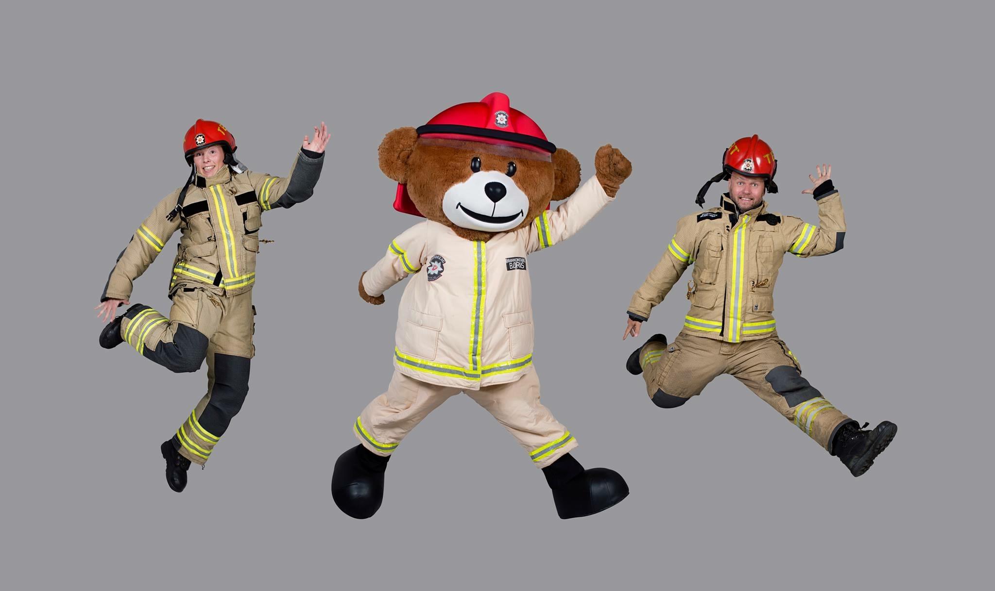 Brannbamsen Bjørnis kommer fredag 24.mars kl 17.00!